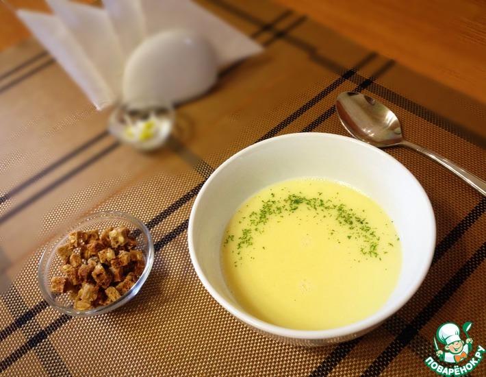 Рецепт: Крем-суп с чесноком