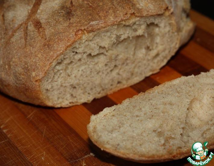 Рецепт: Домашний ржано-пшеничный хлеб в духовке