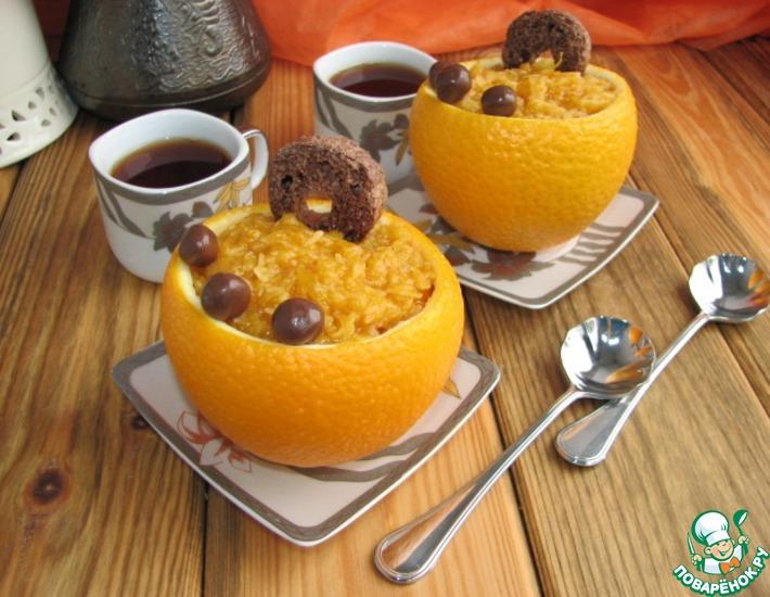 Рецепт: Рисово-апельсиновый пудинг