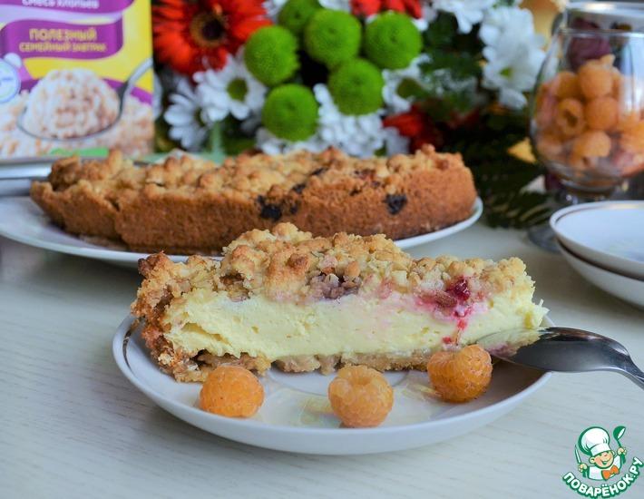 Рецепт: Пирог творожный Хрустящий