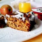 Овсяный пирог с яблоком и фундуком