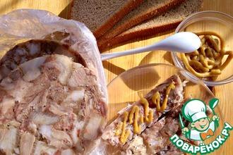 Рецепт: Прессованное мясо из рульки