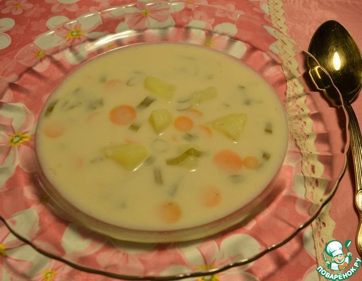 Рецепт: Сырный суп с гречневыми хлопьями
