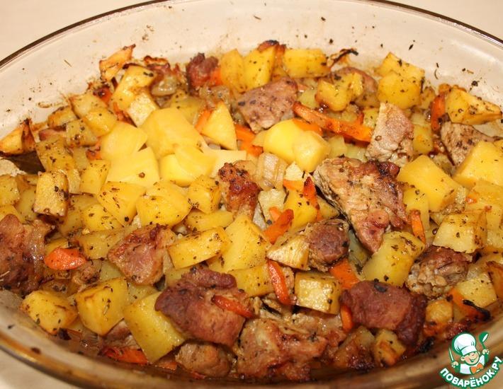 Рецепт: Картофель с мясом и специями