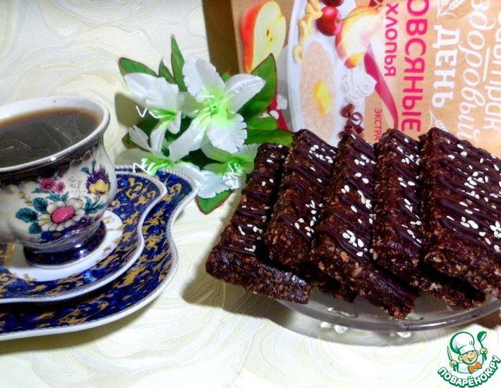 Рецепт: Финиково-шоколадные брауни