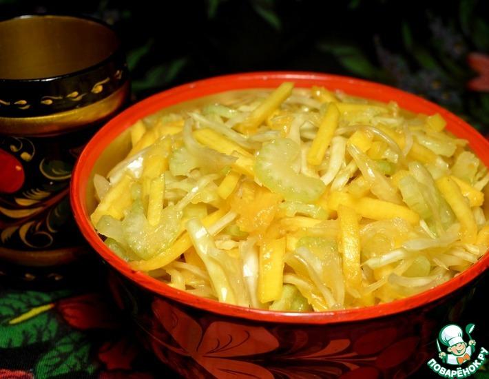 Рецепт: Пикантный осенний салат