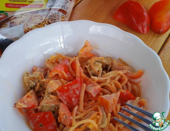 Рецепт: Салат Трио с куриным филе