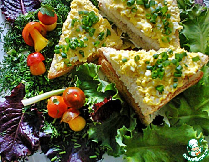 Рецепт: Бутерброд с яичным паштетом