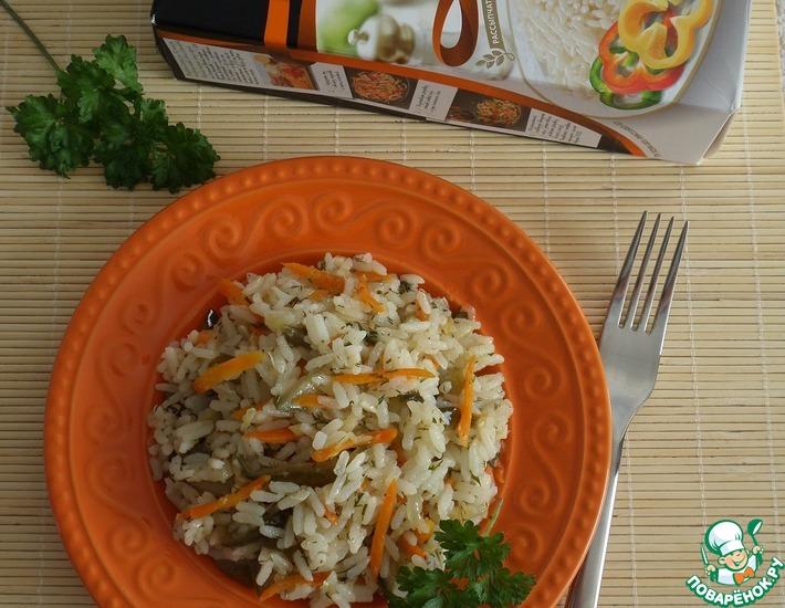 Рецепт: Рис Рассольный с овощами