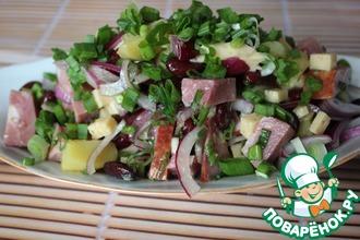 Рецепт: Салат с красной фасолью из Аппенцелля