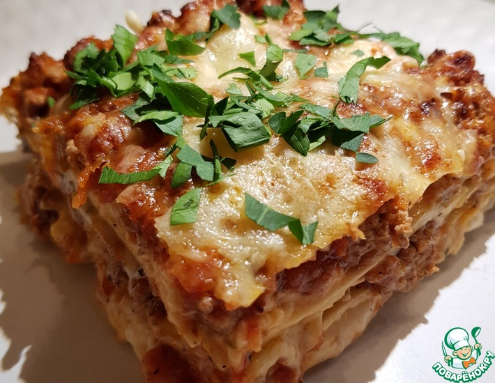 Рецепт: Мясная лазанья