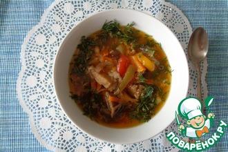 Рецепт: Суп с баклажанами и брюквой