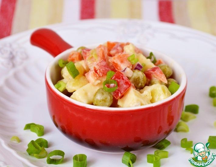 Рецепт: Салат из овощей с сыром