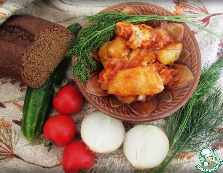 Рецепт: Рыба по-казачьи