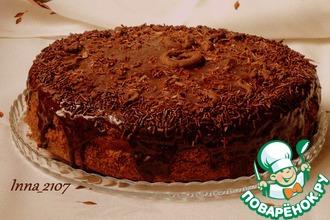 Рецепт: Торт шоколадный с заварным кремом