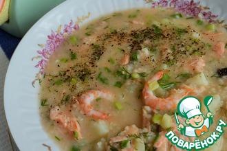 Рецепт: Суп рыбный с кускусом