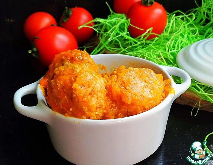 Рецепт: Тефтели в кремово-овощной подливе