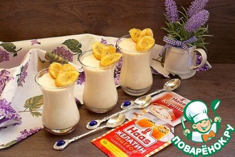 Рецепт: Десерт из ряженки Почти мороженое крем-брюле