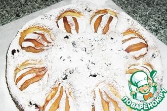 Рецепт: Пирог с грушами и смородиной