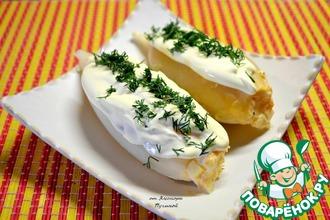 Рецепт: Кальмар, фаршированный ананасом