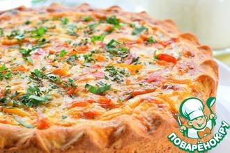 Рецепт: Открытый овощной пирог