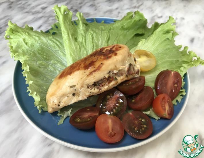 Рецепт: Куриная грудка с творожным сыром