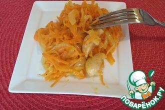 Рецепт: Дальневосточный морковный салат с курицей