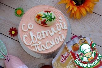 Рецепт: Персиковый чизкейк без выпечки