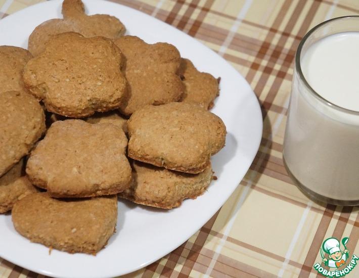 Рецепт: Домашнее овсяное печенье