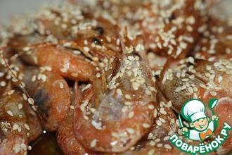 Рецепт: Кисло-сладкие креветки