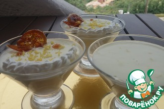 Рецепт: Десерт Лимонный крем