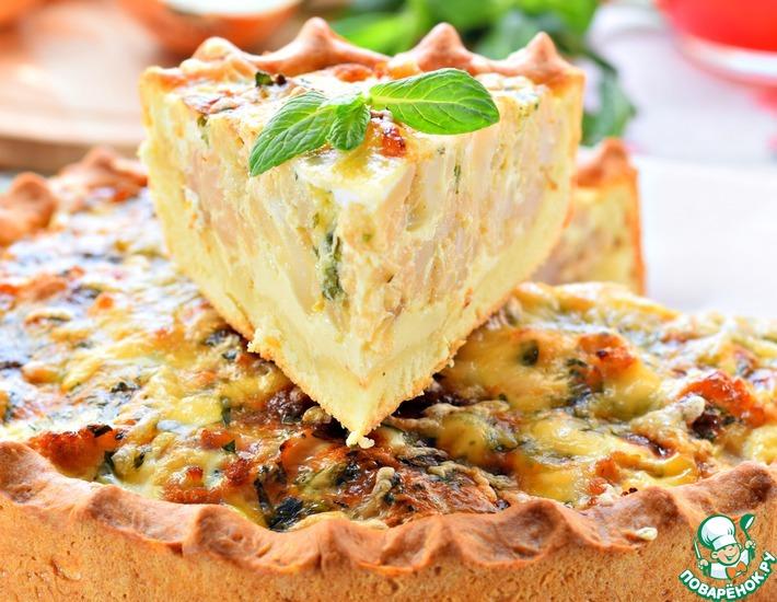Рецепт: Пирог с цветной капустой и мятой