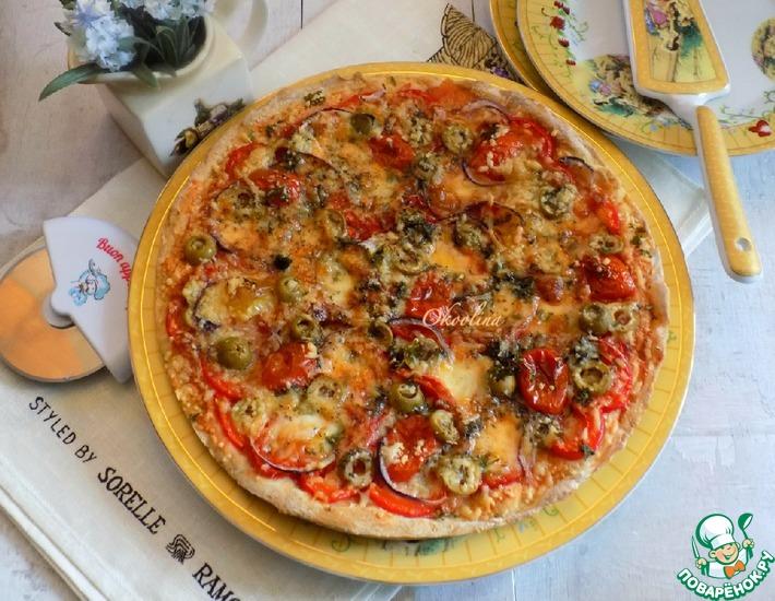 Рецепт: Пицца с черри и двумя сырами