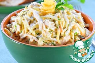 Рецепт: Салат с курицей Загадка