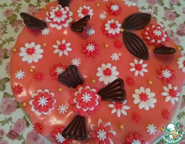 Рецепт: Цветная глазурь для заливки тортов