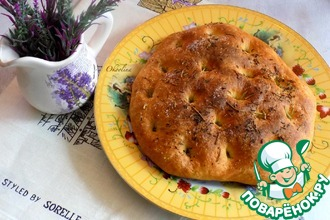 Рецепт: Итальянская пшеничная лепёшка Фокачча