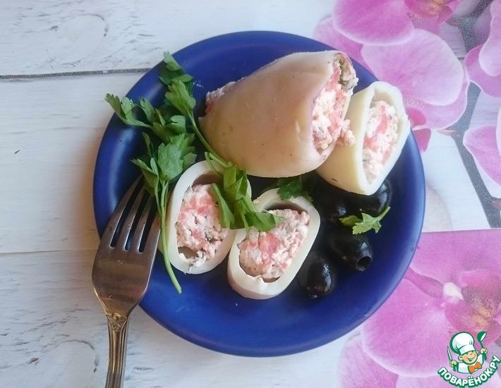 Рецепт: Фаршированный кальмар