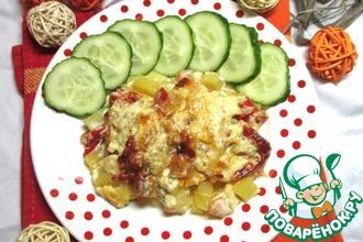 Рецепт: Фрикадельки с овощами сливочные Семейный ужин