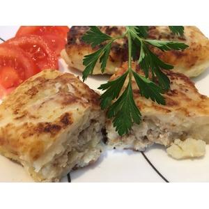 Картофельные оладьи с куриной начинкой Души