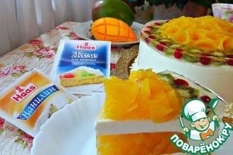 Рецепт: Ванильный торт с манго