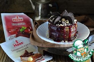 Рецепт: Черемуховый мини-торт Рустик