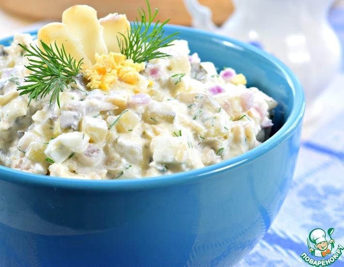 Рецепт: Салат с рыбой Уральский