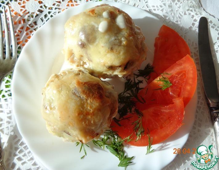 Рецепт: Кабачок в сырно-сливочном соусе