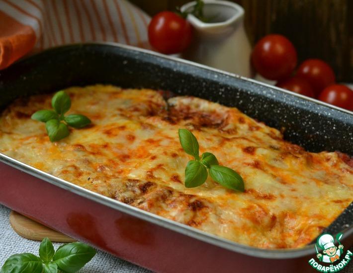 Рецепт: Баклажановая запеканка а-ля лазанья