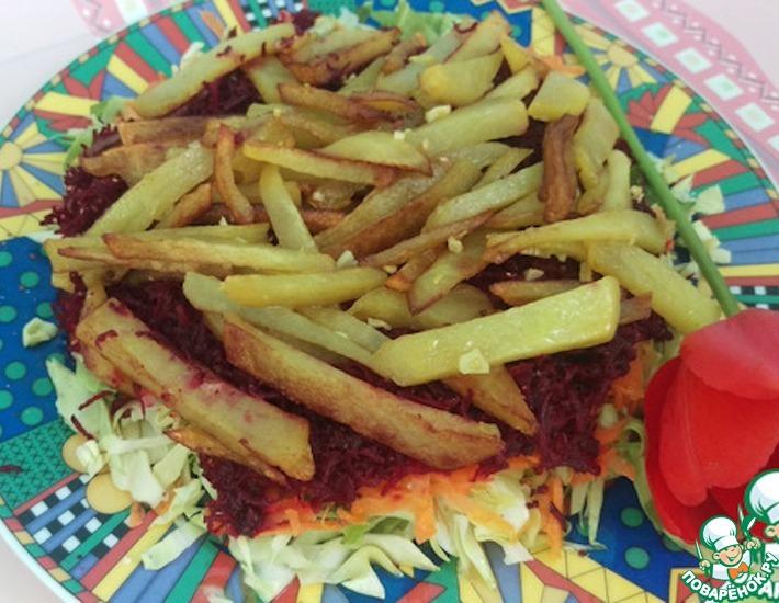 Рецепт: Салат Козел в огороде