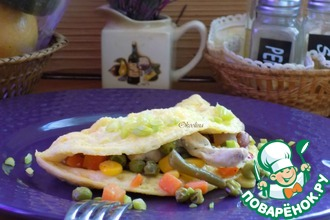 Рецепт: Французский омлет на завтрак
