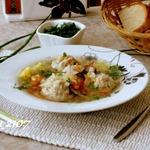 Суп с фрикадельками и пшеном