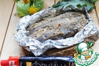 Рецепт: Камбала в фольге в пикантном маринаде