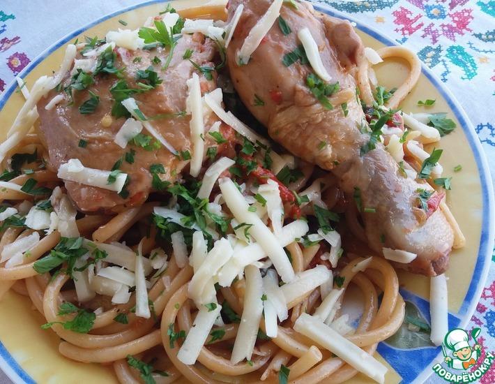 Рецепт: Макаронада с курицей с острова Наксос