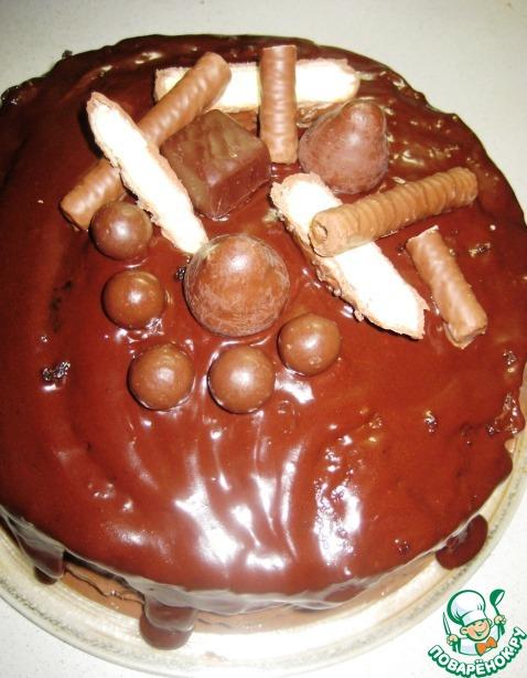 Торт с шоколадно-банановым кремом